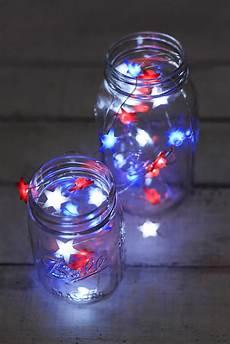 Red White Blue String Lights Everlasting Glow Red White Amp Blue Star Shaped Led Mini