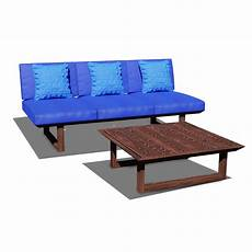 Wood Frame Sofa 3d Image by 3d Model Wooden Three Seater Sofa Cgtrader