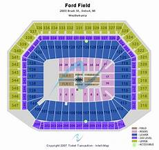 Ford Stadium Seating Chart Ford Field Seating Chart