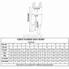 Chest Wader Size Chart Uk Sizes 6 12 Chest Waders Boot Belt Waterproof Fly
