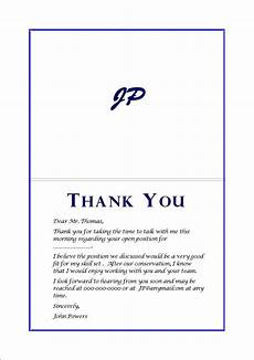 Thank You Card For Job Interview Thank You Cards After Interview 2013 Pinterest