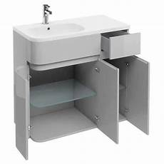 aqua cabinets arc grey 900 unit basin sanctuary bathrooms