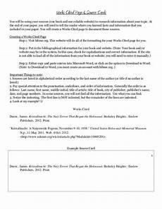 What Is Works Cited Page Creating A Works Cited Page And Source Cards