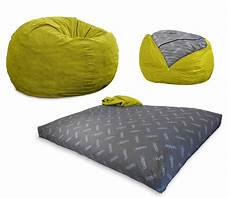 convertible bean bag chair converts from a chair to a
