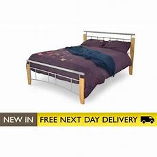buy beech and silver single 3ft bed metal kentucky from bedsos