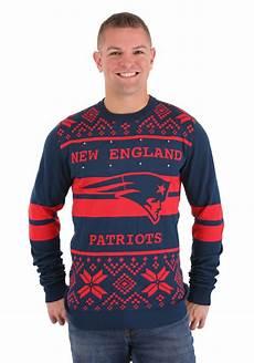 Nfl Patriots Light Up Sweater New England Patriots 2 Stripe Sweater Big Logo Light Up