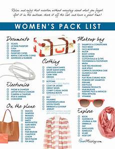 Packing For Vacation Checklist Women S Travel Pack Checklist House Mix