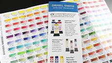 Daniel Smith Watercolor Color Chart Understanding Daniel Smith Watercolor Ratings Chart Youtube