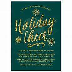 Invitations Companies Corporate Holiday Party Invitations Golden Holiday Cheer