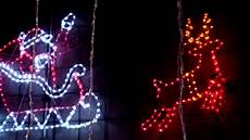 Santa Claus Reindeer Lights Christmas Lighting Show Display Spectacular Large Santa