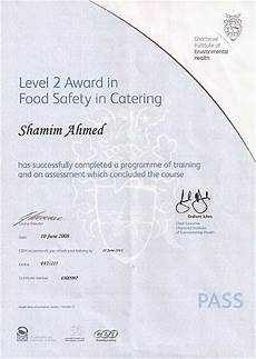 Level 2 Food Safety Questions Level 2 Award In Food Safety In Catering Certificate For