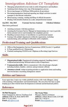 Immigration Consultant Resume Immigration Advisor Cv Template 2