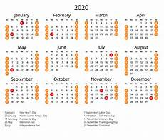 2020 Calendar Holidays Usa 2020 Calendar With Us Holidays 365 Date