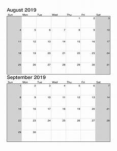 helligdage i august 2019 blank august september 2019 calendar with notes magic