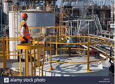 Chemical Plant Operator Female Chemical Plant Process Operator Walkway To Storage