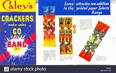 Advertisement Leaflets Advertising Leaflet For Caley S Crackers Stock Photo