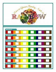 Rainbow Diet Food Chart Free Eat The Rainbow Chart Encourages Healthy Eating By