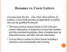 Cover Letter Vs Resume Importance Of Resume And Cover Letter