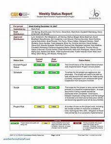 Status Report Formats 8 Weekly Status Report Examples Pdf Examples