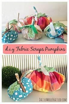 how to make fall fabric scraps pumpkins diy