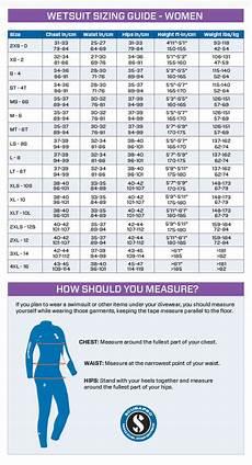 Gotcha Wetsuit Size Chart Scubapro Women S Wetsuit Size Chart