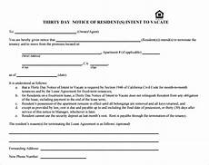 Printable 30 Day Notice To Landlord Free 11 30 Day Notice Templates In Pdf Ms Word