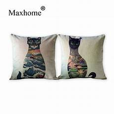 fashion cotton linen pillowcase japanese ukiyoe animal