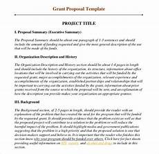How To Write Grant Proposal 11 Grant Writing Templates Free Sample Example Format