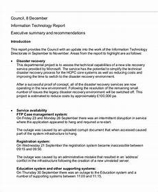 It Report Template It Report Template 10 Free Word Pdf Format Download