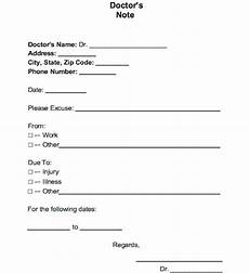 Printable Fake Doctors Notes Free Fake Doctors Note For Work Template Business