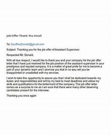 Thank For Job Offer Free 7 Job Offer Email Examples Amp Samples In Pdf Doc