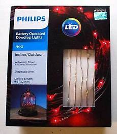 Philips 30ct Christmas Battery Operated Led Dewdrop Fairy String Lights Philips Battery Operated Dewdrop Fairy Led Lights Red