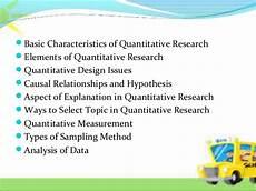 Basic Elements Of Research Design Quantitative Research