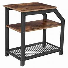 benjara bm217086 industrial side table with 1 wooden 1