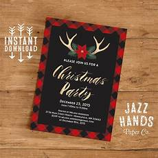 Printable Christmas Party Invitations Free Templates Christmas Party Invitation Template Diy Printable Holiday