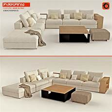 Ground Sofa 3d Image by Sofa Flexform Groundpiece 3d Cgtrader