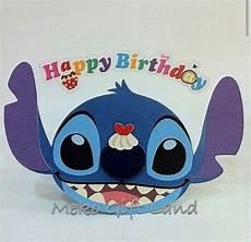 happy birthday stitch card lilo stitch