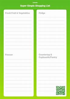 Easy Shopping List Template Make Your Own Printable Grocery List Template Listonic
