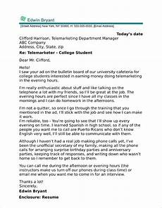 Cover Letter Examples For Students College Student Cover Letter Sample