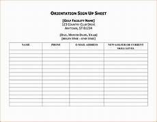 Printable Sign Up Sheets 5 Sign Sheet Template Sampletemplatess Sampletemplatess