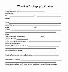 Free Wedding Contract Template Free 14 Wedding Photography Contract Templates In Pdf