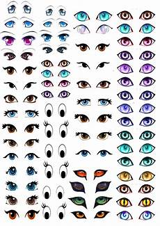 Eye Template My Skills Guide Manga Eyes For Amigurumi Practice