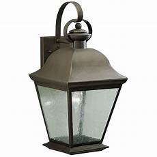 Kichler Outdoor Wall Light Kichler 19 1 2 Inch Outdoor Wall Light With Clear Seeded