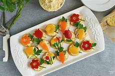 easy appetizer with veggie flowers finding zest