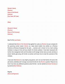 High School Letter Of Recommendation Template High School Recommendation Letter 12 Sample Letters