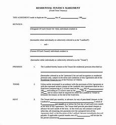 Sample Tenancy Agreement Doc Sample Tenancy Agreement Template 9 Free Documents In