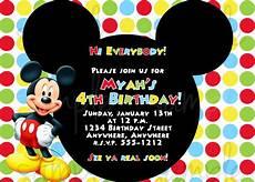 Mickey Mouse Birthday Invites Mickey Mouse Birthday Invitation