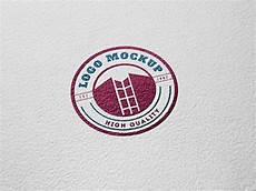 Logo Mockup Free Paper Engraved Logo Mockup