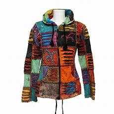 nepalese patchwork torn hoodie the hippy clothing co