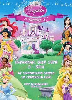 Disney Themed Party Invitations Items Similar To Disney Princess Invitation Printable